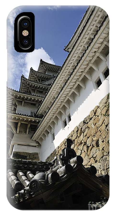 Himeji IPhone X Case featuring the photograph Himeji Castle Tower by Andy Smy