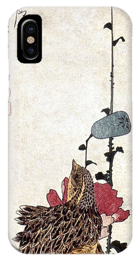 1835 IPhone X Case featuring the photograph Hiroshige: Poppies by Granger
