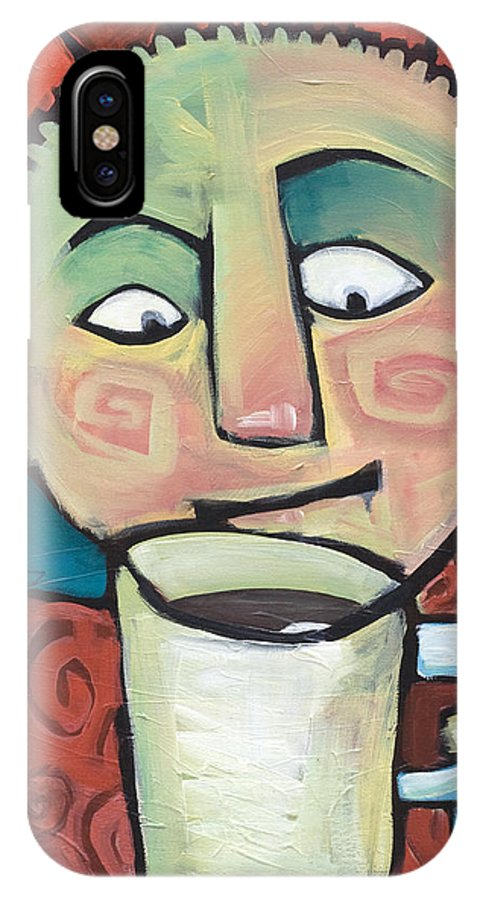 Smile IPhone Case featuring the painting His Coffee Spoke To Him by Tim Nyberg