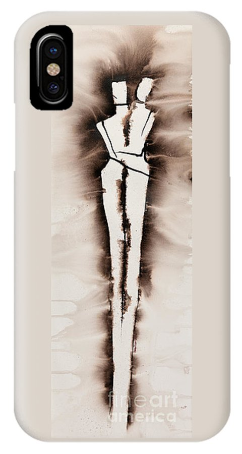 Ilisa Millermoon IPhone X Case featuring the painting His Embrace Divine Love Series No. 1287 by Ilisa Millermoon