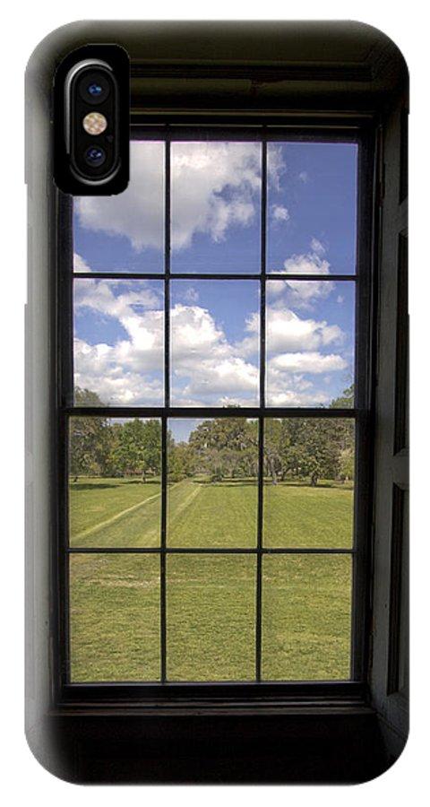 Historic IPhone X Case featuring the photograph Historic Drayton Hall Window In Charleston South Carolina by Dustin K Ryan
