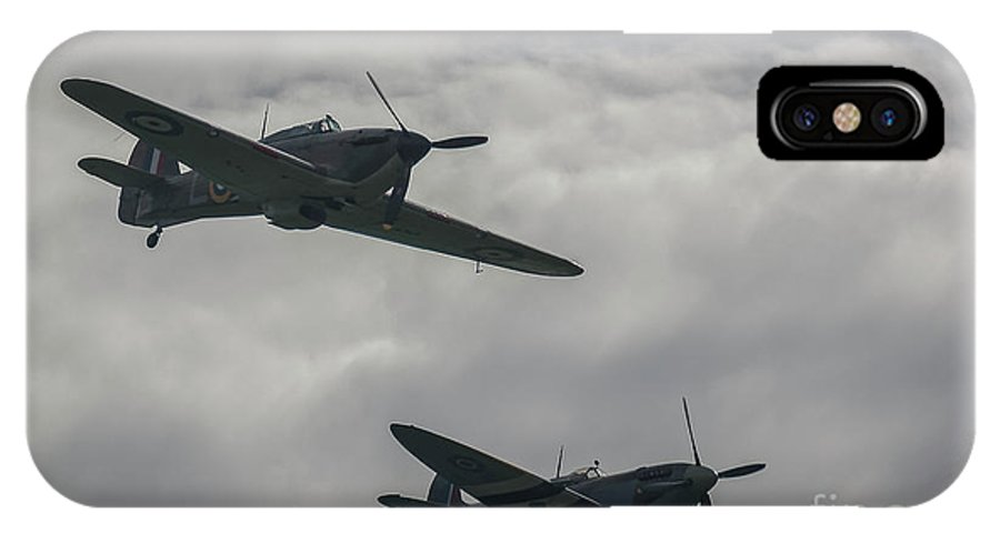 Spitfire IPhone X Case featuring the photograph Historic Fighter Planes by Philip Pound