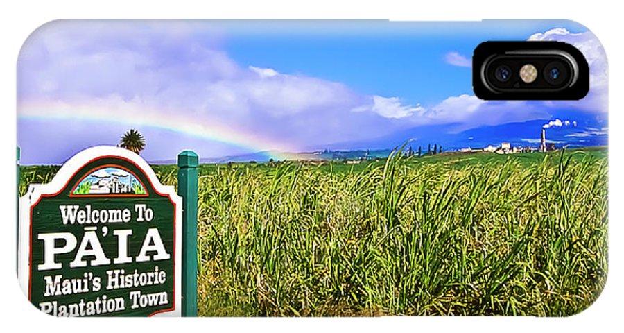 Hawai'i IPhone X Case featuring the photograph Maui Hawaii Rainbow Final Farewell to Maui's Oldest Plantation by Jim Cazel