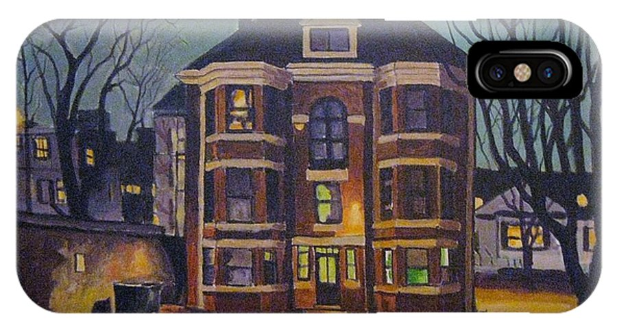 Moody IPhone Case featuring the painting Historic Property South End Haifax by John Malone