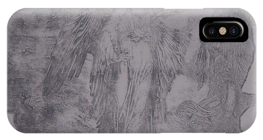 Angel IPhone Case featuring the mixed media History by Emily Young