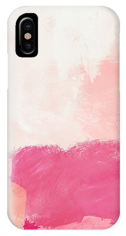 Abstract IPhone X Case featuring the mixed media History Of Pink- Abstract Art By Linda Woods by Linda Woods