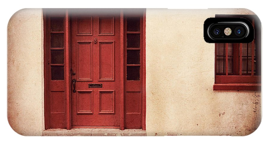 Door IPhone X Case featuring the photograph History's Doorway by Romina Ludovico-Pfosi
