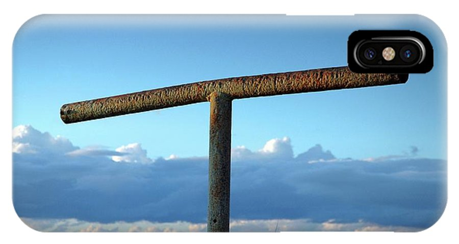 Hitching Post IPhone X Case featuring the photograph Hitching Post by Chris Anthony