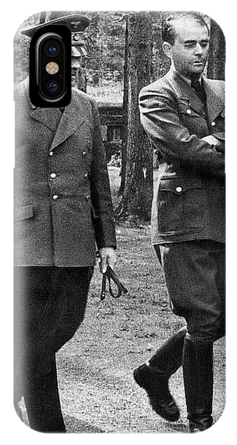 Hitler Strolling With Albert Speer Unknown Date Or Location IPhone X Case featuring the photograph Hitler Strolling With Albert Speer Unknown Date Or Location by David Lee Guss