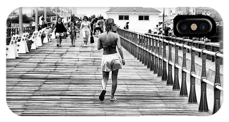 Hitting The Boardwalk IPhone X Case featuring the photograph Hitting The Boardwalk by John Rizzuto
