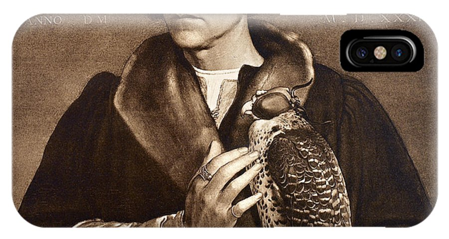 1533 IPhone X Case featuring the photograph Holbein: Falconer, 1533 by Granger