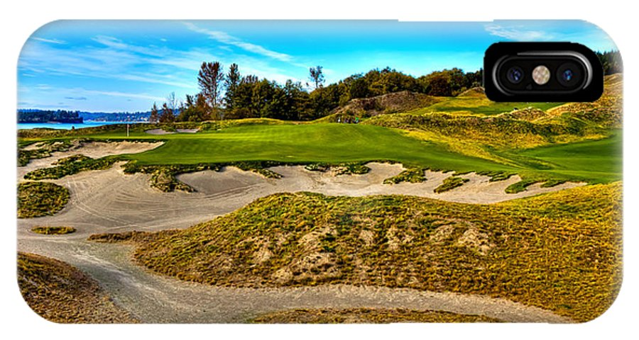 Hole #3 At Chambers Bay IPhone X Case featuring the photograph Hole #3 At Chambers Bay by David Patterson
