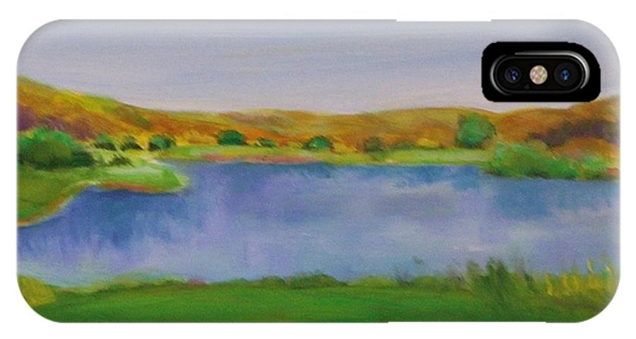Golf IPhone X Case featuring the painting Hole 3 Fade Away by Shannon Grissom