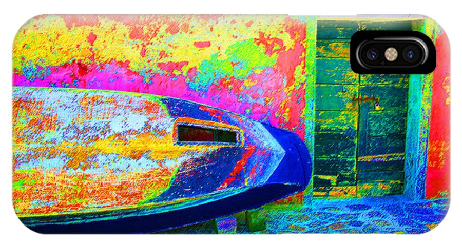 Digital Pastel IPhone Case featuring the digital art Hole In The Boat by Donna Corless