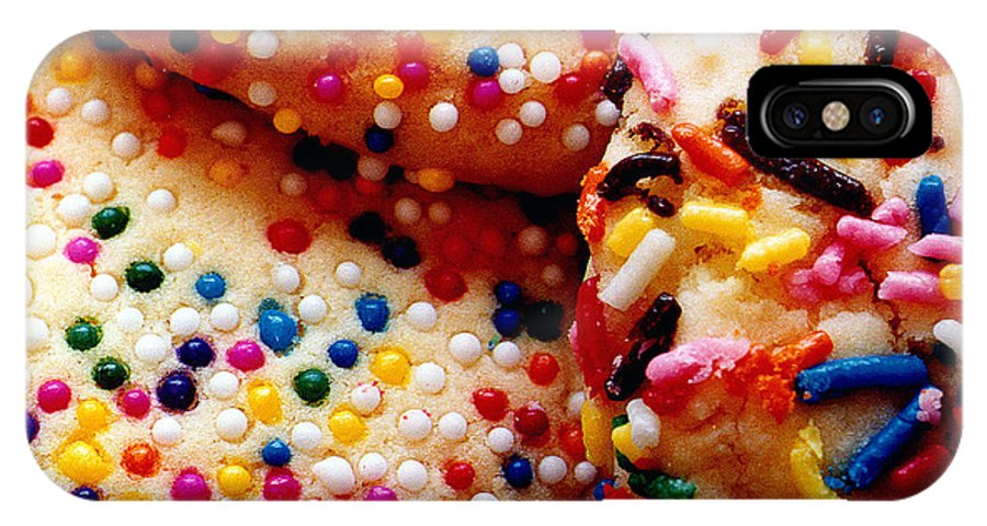Cookie IPhone X Case featuring the photograph Holiday Cookies by Nancy Mueller
