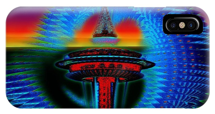 Seattle IPhone X Case featuring the photograph Holiday Needle 2 by Tim Allen