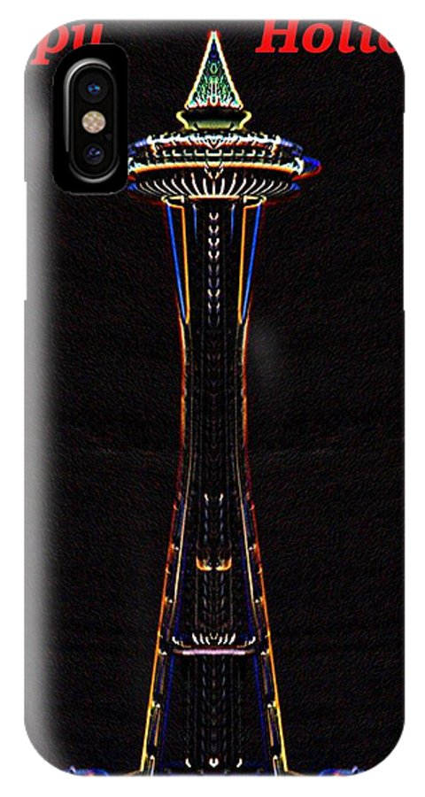 Seattle IPhone X Case featuring the photograph Holiday Needle 3 by Tim Allen