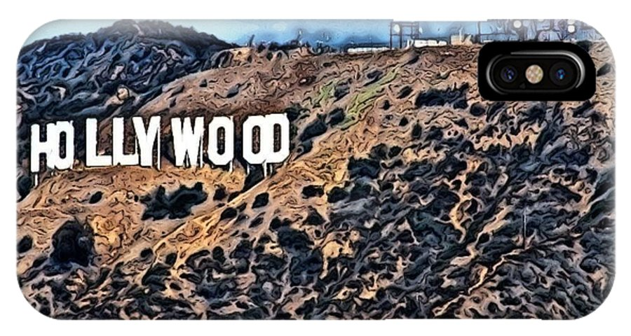 Hollywood Sign IPhone X Case featuring the photograph Hollywood Sign by Robert Butler