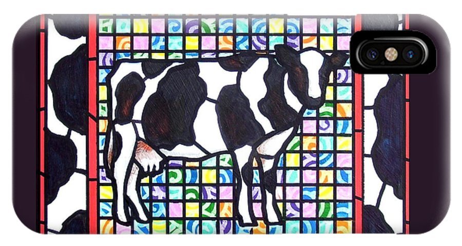 Cattke IPhone Case featuring the painting Holstein 3 by Jim Harris