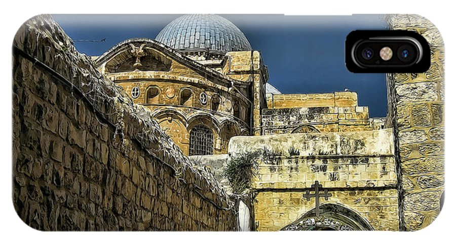 Jerusalem IPhone X Case featuring the photograph Holy City by Douglas Barnard