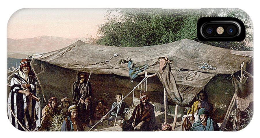 1890s IPhone X Case featuring the photograph Holy Land: Bedouin Camp by Granger