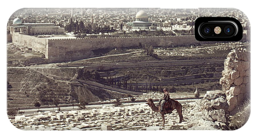 Camel IPhone X Case featuring the photograph Holy Land - Jerusalem by Granger