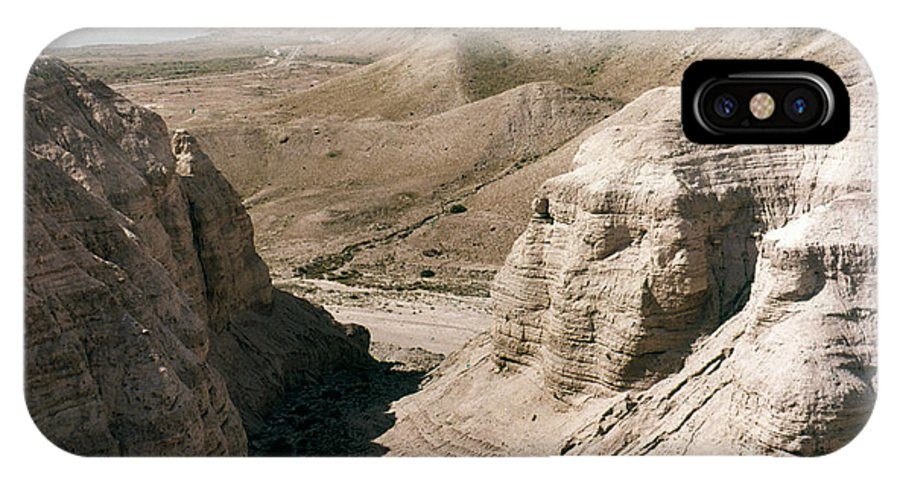 Ancient IPhone X Case featuring the photograph Holy Land: Qumran Caves by Granger