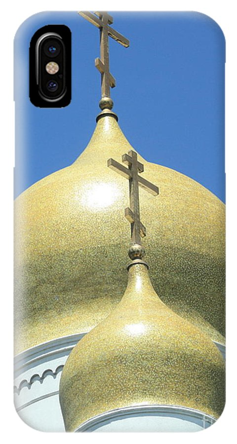 Holy Virgin Cathedral IPhone X Case featuring the photograph Holy Virgin Cathedral In San Francisco by Carol Groenen