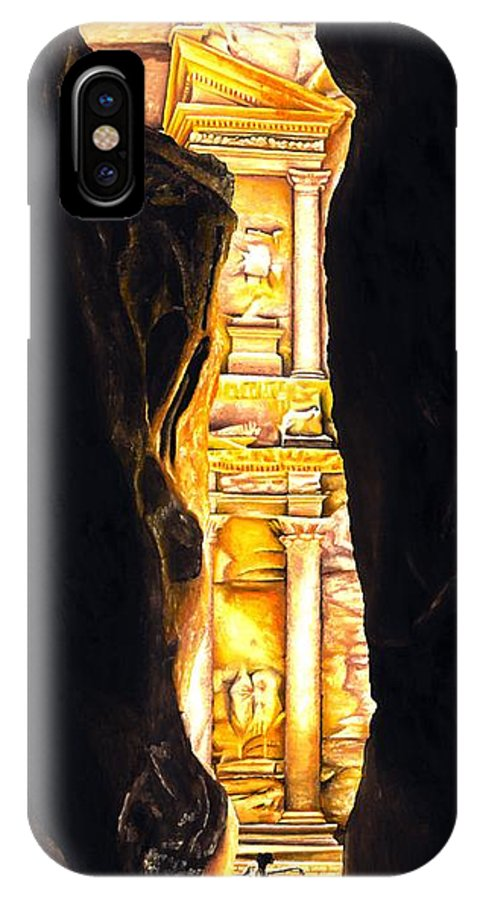 Bellydancer IPhone X Case featuring the painting Homage To Petra by Richard Young