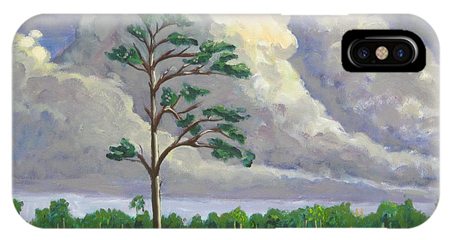 Landscape IPhone X Case featuring the painting Homage To Tommy Thompson by D T LaVercombe