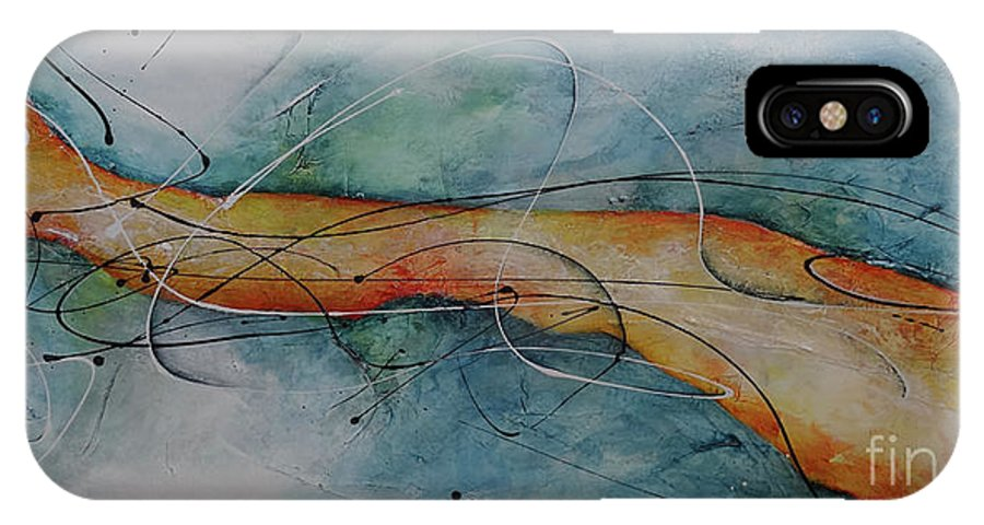 Art IPhone X Case featuring the painting Home by Bradley Carter