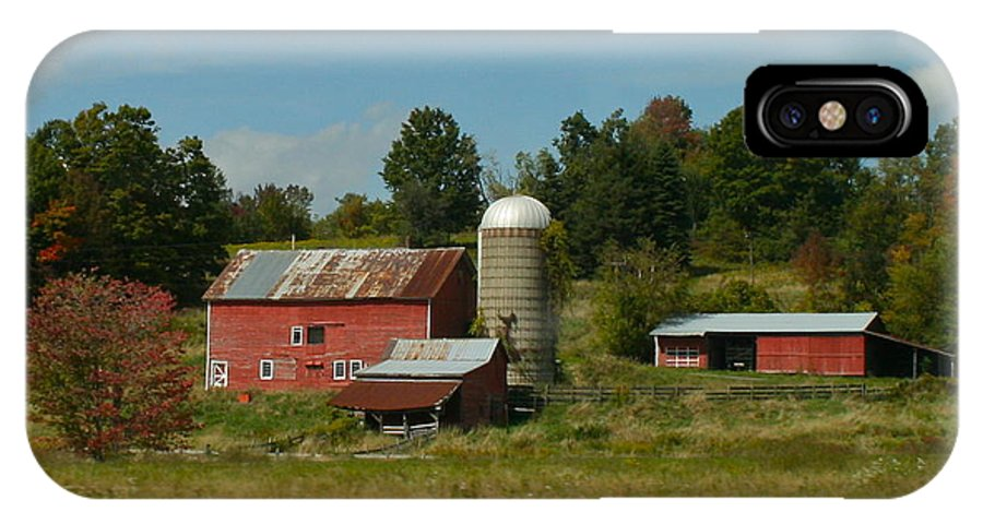 Farm IPhone X Case featuring the photograph Home On The Farm by Rick Monyahan