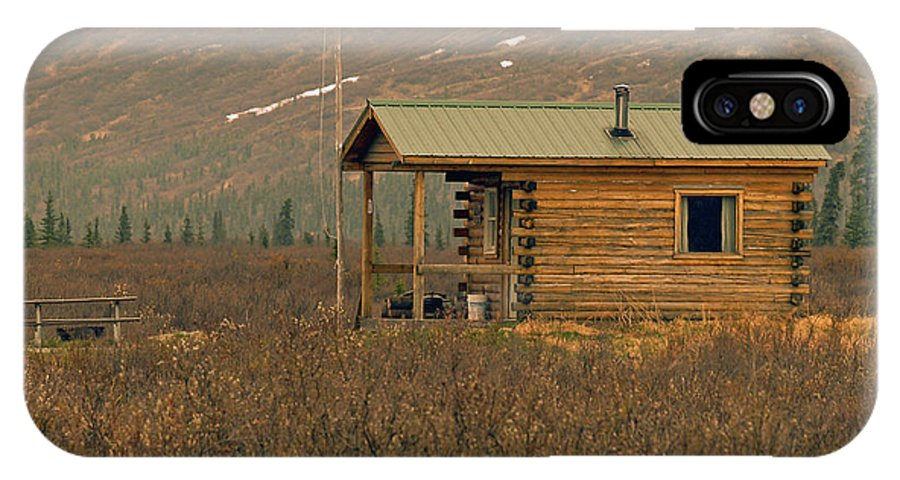 Log Cabin IPhone Case featuring the photograph Home Sweet Fishing Home In Alaska by Denise McAllister