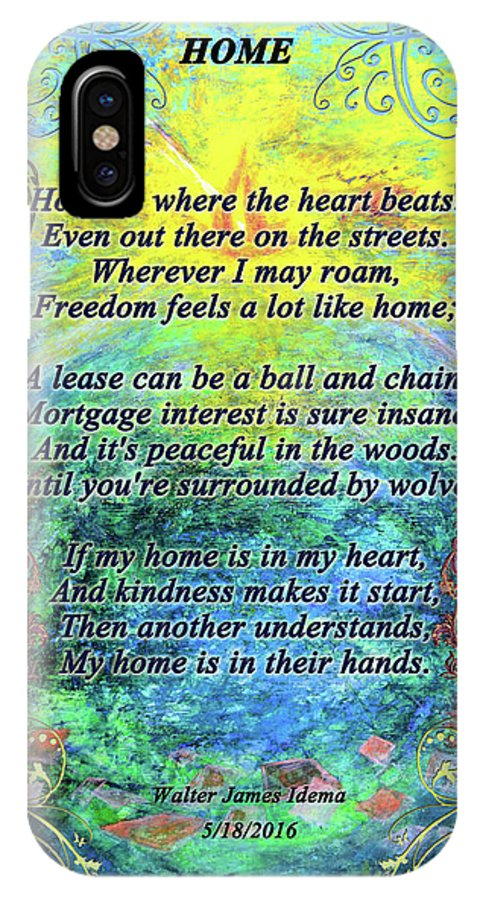 Artpoetry IPhone X / XS Case featuring the mixed media Home by Walter Idema