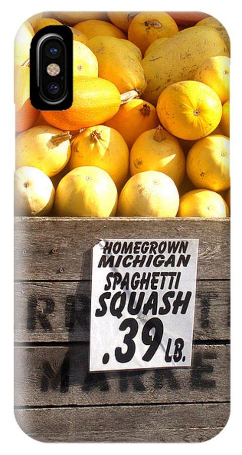Michigan IPhone X Case featuring the photograph Homegrown Michigan Spaghetti Squash by Wayne Potrafka