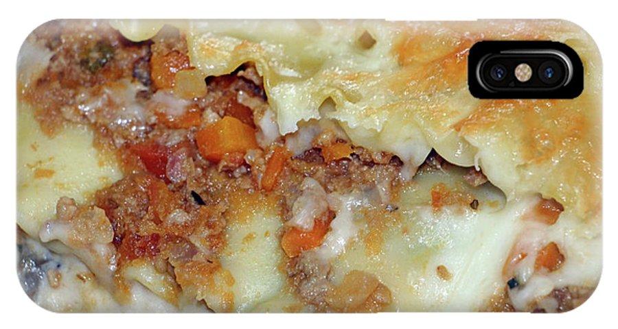 Italian Food IPhone X Case featuring the photograph Homemade Lasagna by Munir Alawi
