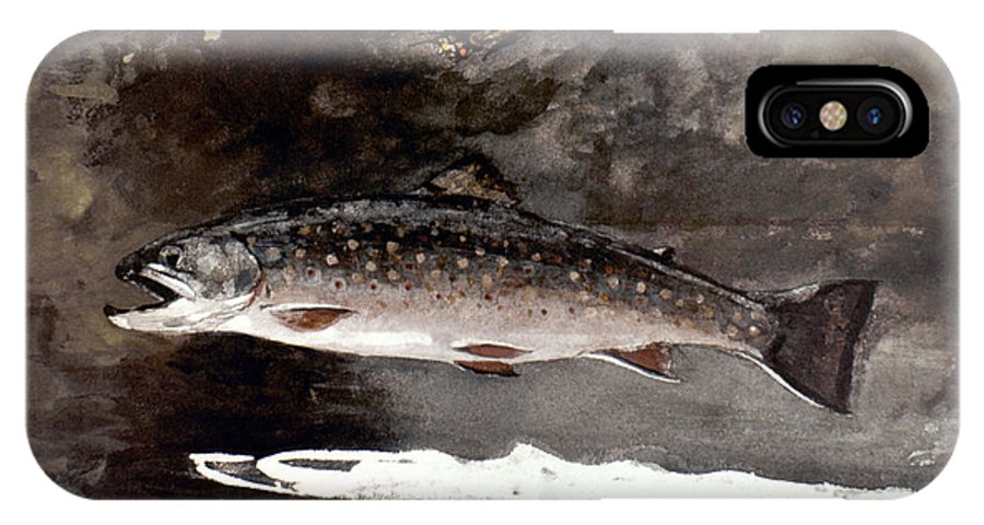 19th Century IPhone X Case featuring the photograph Homer: Trout, 1889 by Granger