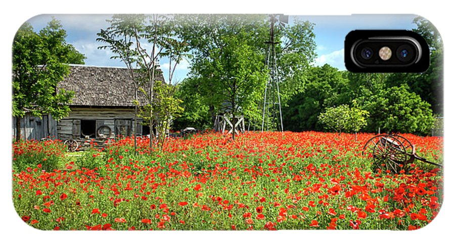 Texas IPhone X Case featuring the photograph Homestead In The Poppies by A C Kandler
