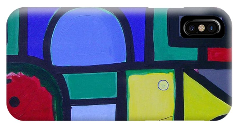 Street IPhone X Case featuring the painting Hommage A Mark Rothko by Michael Puya
