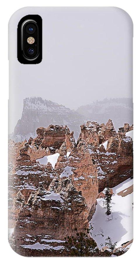 Utah IPhone X Case featuring the photograph Hoodoos In Snow by Viktor Savchenko