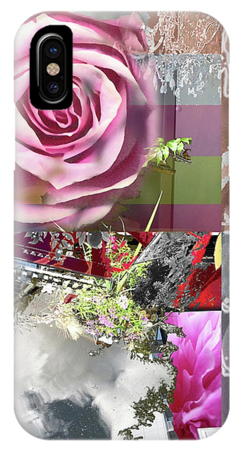 Rose IPhone X Case featuring the digital art Hope by Ceil Diskin