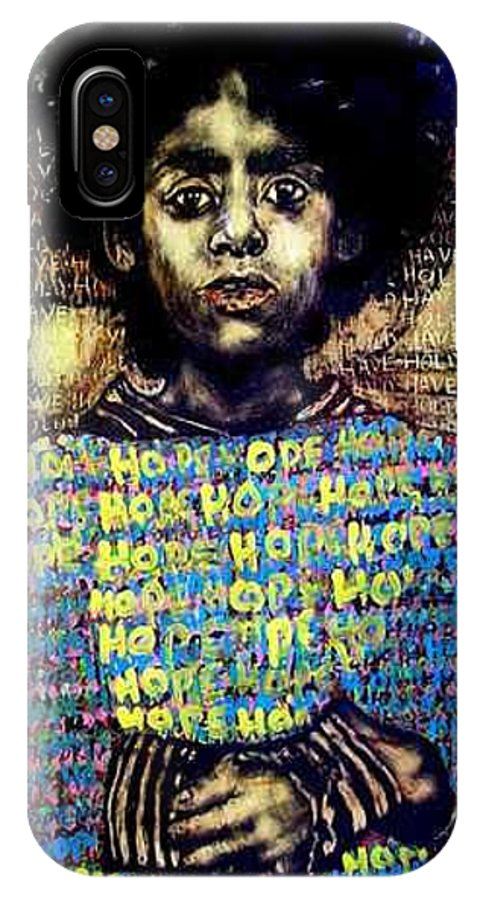 IPhone X / XS Case featuring the mixed media Hope by Chester Elmore