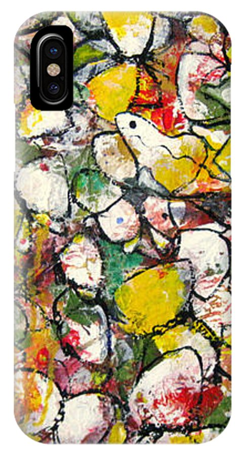 Hope IPhone X Case featuring the painting Hope for the Flower 3 by Piety Choi