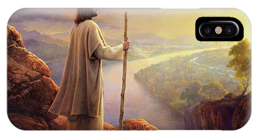 Jesus IPhone X Case featuring the painting Hope On The Horizon by Greg Olsen