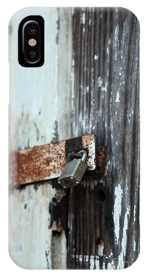hopelessly Locked IPhone X Case featuring the photograph Hopelessly Locked by Amanda Barcon