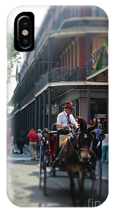 Photo IPhone X Case featuring the photograph Horse Carriage Ride by James Foshee