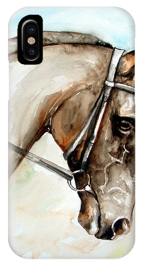 Horse IPhone Case featuring the painting Horse Head by Leyla Munteanu