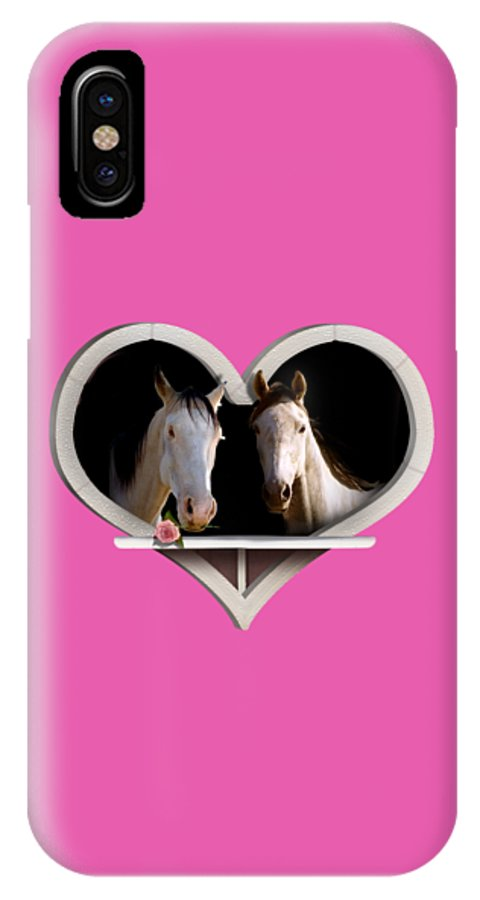 Horse IPhone X Case featuring the photograph Horse Lovers by Gravityx9 Designs