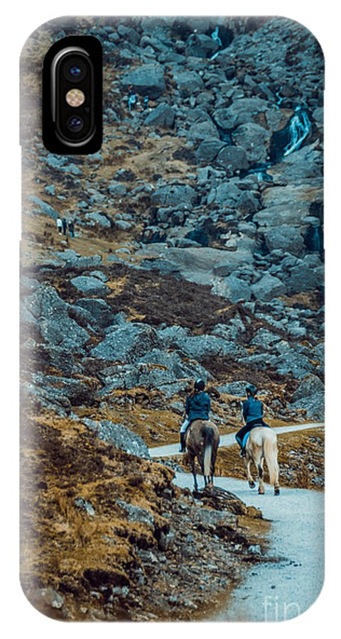IPhone X Case featuring the photograph Horse Riders At Mahon Falls by Marc Daly