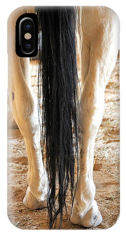 Horse IPhone X / XS Case featuring the photograph Horse Tail. by Oscar Williams